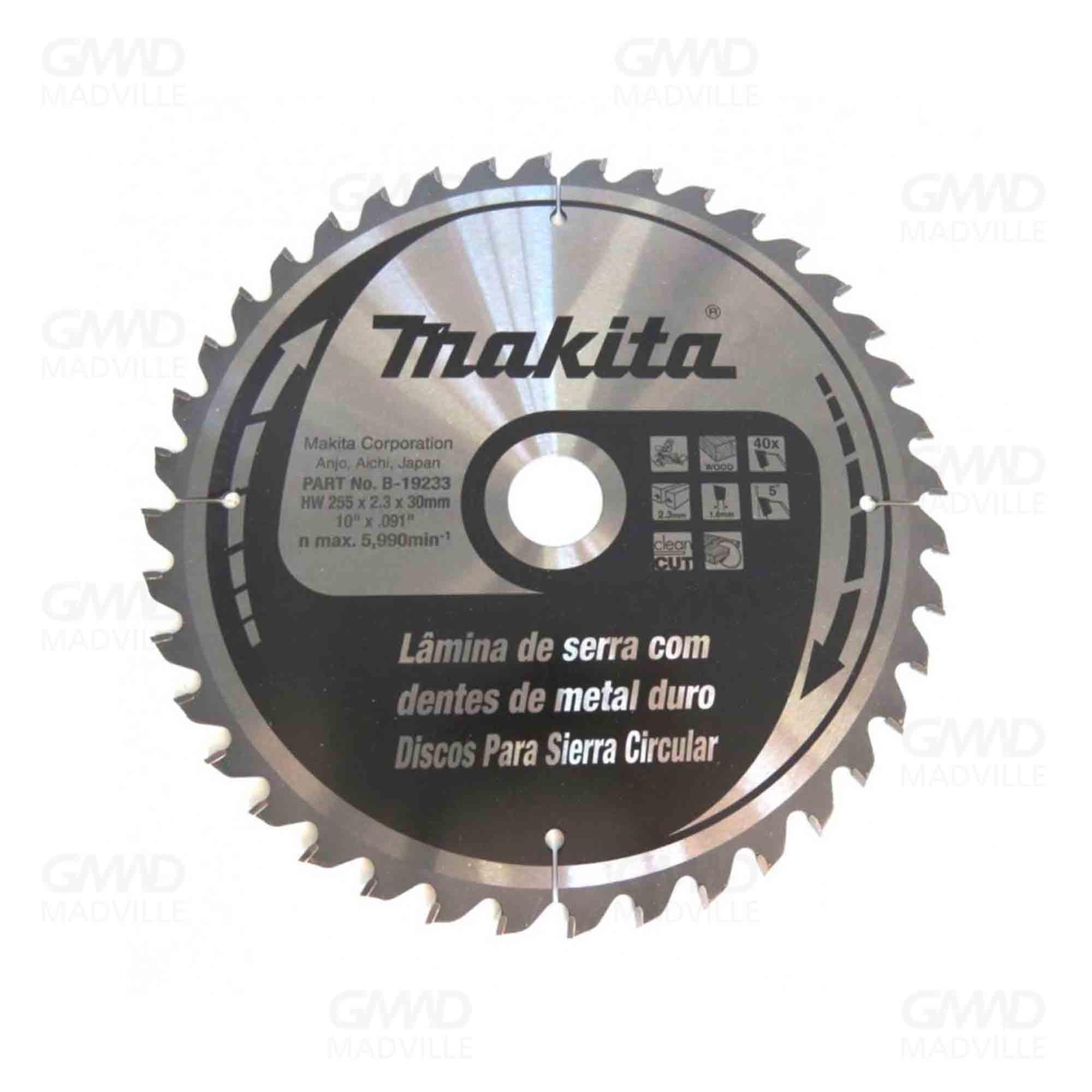 Disco de Serra Circular Madeira 255x30mm 60-dentes