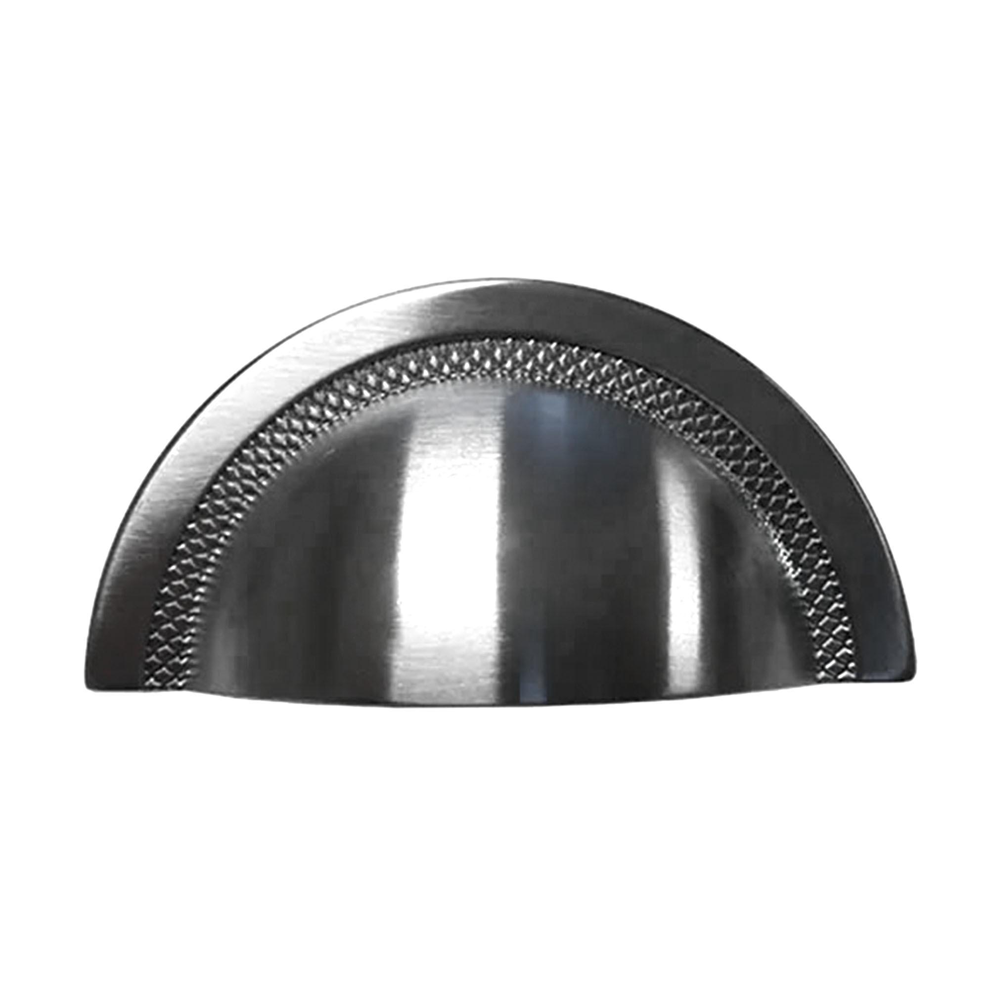 Puxador Shell 48mm Níquel Escovado com Verniz - Zen