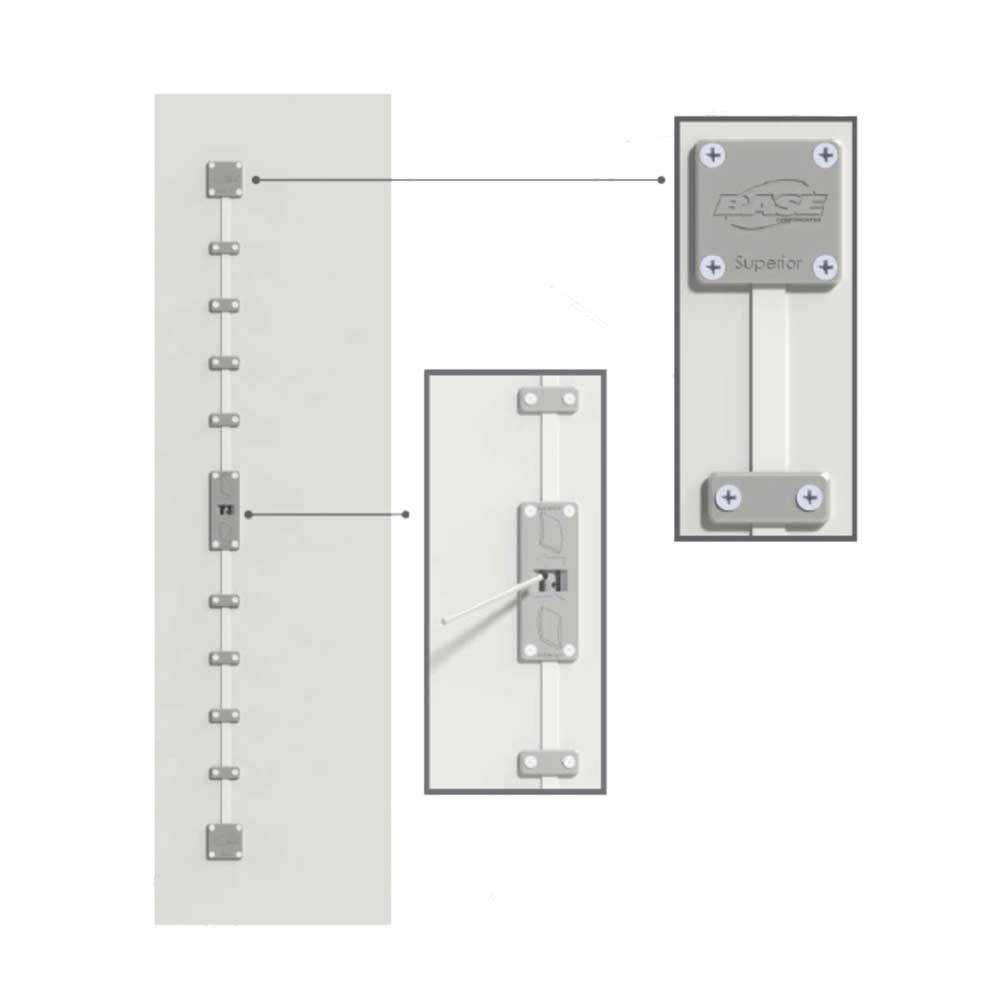 Desempenador para Portas Embutido Cod 900 1000mm - Base